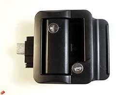 Travel Trailer Lock, Black by Fastec Industrial (Door Handle For Rv compare prices)