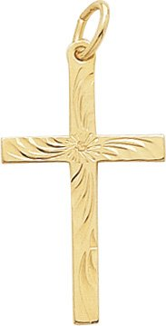 buy Rembrandt Charms Cross Charm, Gold Plated Silver