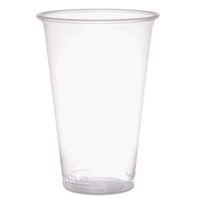 Solo Cup Company - Reveal Plastic Cold Cups, 18 Oz, Clear, Flush Fill, 50/Sleeve, 20 Sleeves/Carton