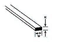 Plastruct MS-308 Rect Strip,.030x.080 (10) PLS90734