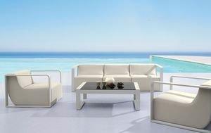 Salon de jardin haut de gamme capri coloris cru - Salon de jardin haut de gamme chaise design ...
