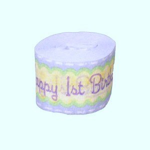 Blue's Clues Happy 1st Birthday Crepe Paper Streamer (Crepe Paper Steamers compare prices)