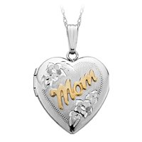 Ladies' Sterling Silver Heart Locket with 14kt. Gold Lettering