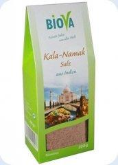 Kala-Namak-Salz (Schwarzsalz) Feinstreu 200g Packung von Biova auf Gewürze Shop