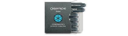 Caran D'Ache cartouches D'encre Chromatics TURQUOISE-HYPNOTIC
