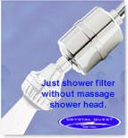 Crystal Quest Chrome Luxury Shower Filter