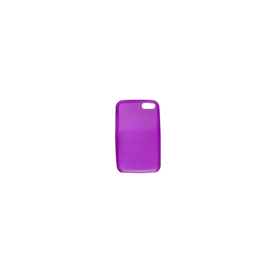 mobile palace  purple silicone case cover pouch holster for Apple ipod touch 2