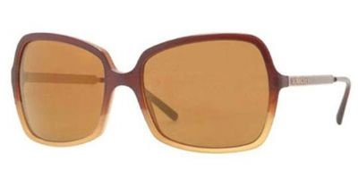 Burberry  Burberry BE4127 Sunglasses-33696H Brown Grad (Brown Mirror Gold Lens)-57mm