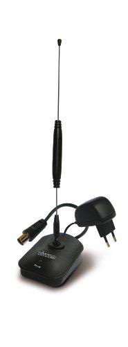 Vivanco TVA 3005 TV-/Radio-Zimmerantenne aktiv inkl. Netzteil (DVB-T, DVB-T2, DAB Radio, FM Radio) schwarz