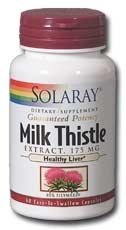 Milk Thistle Extract 175Mg Solaray 60 Vcaps