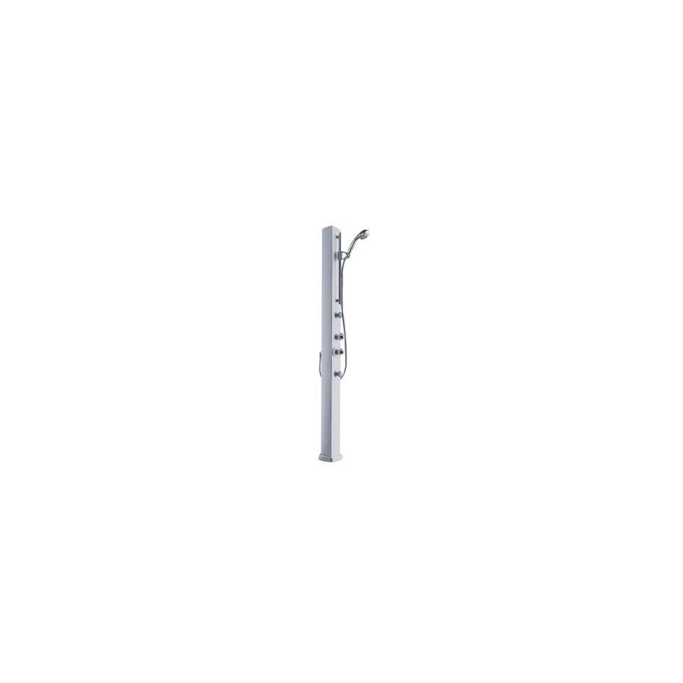 Hansgrohe 29812001 pharo satin chrome shower panel column on popscreen - Hansgrohe axor pharo shower ...