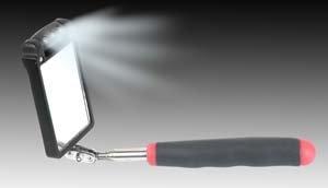 Ullman Devices (Ullhtk2Lt) Rectangular Inspection Mirror With Three Rotating Lights