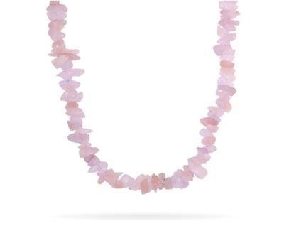 100 Carat All Natural Uncut Pink Quartz Necklace