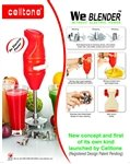 Celltone we blender without electric power