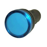 American Led-Gible Ld-2837-126 Led 22Mm Indicator Light, 24V Blue