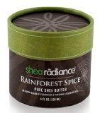 Shea Radiance Rainforest Spice Pure Shea Butter 4 oz Cream