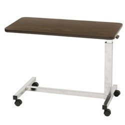 Drive Medical Low Height Overbed Table, Walnut front-539454