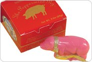 Saratoga Sweets Peppermint Pig HOLLY 3oz Ornament In Gift Box