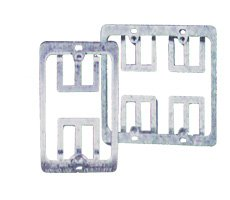 C2G / Cables to Go 3785 Double Gang Wall Plate Mounting Bracket (Silver)