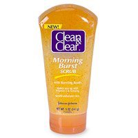 Clean & Clear Morning Burst Scrub with Bursting Beads, 5Ounce Tubes (Pack of 3)