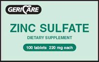 Zinc Sulfate 100 Tablets 220Mg Dietary Supplement