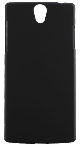 ECellStreet Rubberised Premium Matte Finish Hard Back Case Back Cover For OPPO Find 5 Mini R827 - Black