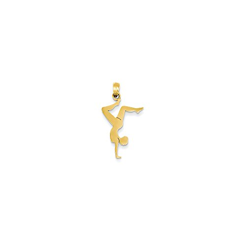 14k Yellow Gold Solid Polished Pendant