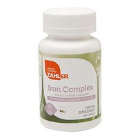 Zahlers Iron Complex, Complete Blood Building Iron Supplement with Ferrochel, Easy on the Stomach Iron Pills with Vitamin C, Optimal Absorption, #1 Top Quality All Natural Iron Vitamin, Kosher Certified, 100 Capsules