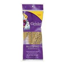 Geisler Millet Sprays, for All Birds - 12 sprays 3.5 oz. (Pack of 3)