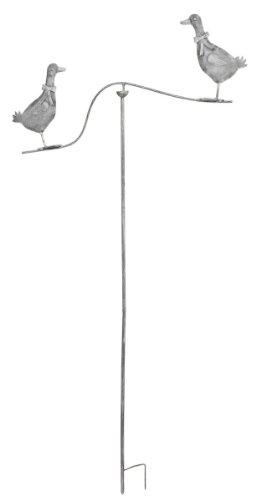 5Y0091 Garten Deko Gartenverzierung Gans zum Einstecken in die Erde ca. 68 x 147 cm