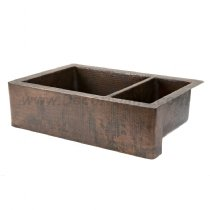 "33"" x 22"" Farmhouse/Apron Kitchen Sink - Oil Rubbed Bronze"