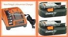 2 Two Ridgid 18 Volt Lithium Ion Battery + 18V Charger