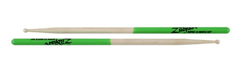 Zildjian SUPER 7A MAPLE GREEN DIP DRUMSTICKS