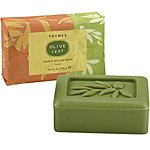 Thymes Bar Soap, Olive Leaf, 7-Ounce Bar