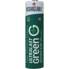 AA Green High-Power Rechargeable Batteries - 8 Pack