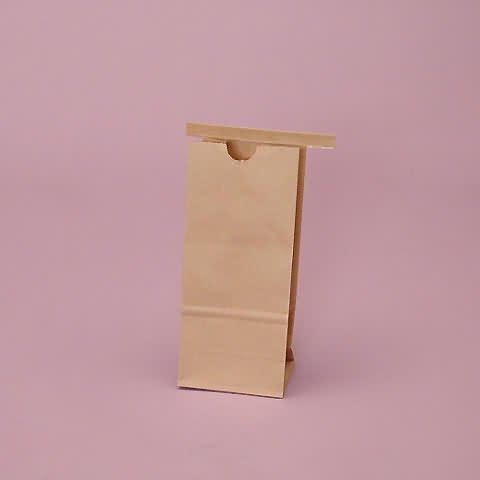 """Bags - 100Ea - Kraft Food Bags 3-3/8"""" X 2-1/2"""" X 7-3/4"""""""
