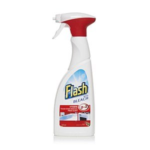 Flash With Bleach Bathroom And Kitchen Cleaner 450ml