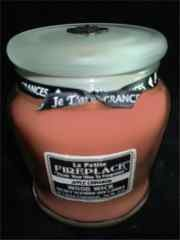 Je T'aime Gourmet Natural Soy candles-Classique Collection-Asian Amber - La Petite Fireplace Soy Wood Wick Candle 13oz