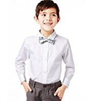 Autograph Pure Cotton Classic Collar Shirt with Bow Tie