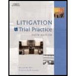 Litigation & Trial Practice by Hart,William; Blanchard,Roderick D.. [2006,6th Edition.] Hardcover