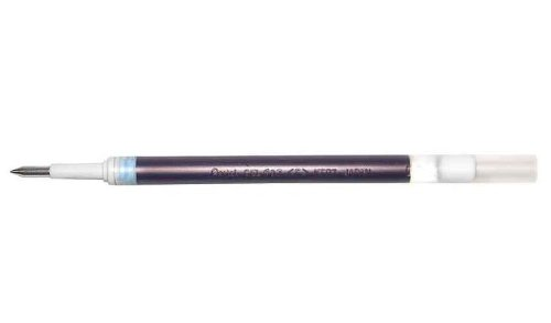 Pentel Lot de 12 mines pour stylo roller gel KFR7, noir