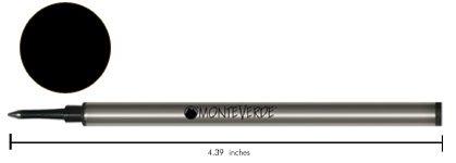 Monteverde W221BK Recharge pour stylo roller Noir Lot de 2