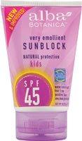 Alba Botanica Kids SPF 45 Sunblock -- 4 fl oz