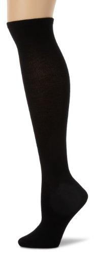 Capezio New York Women's Spun Rayon Flat Knit Knee High Socks