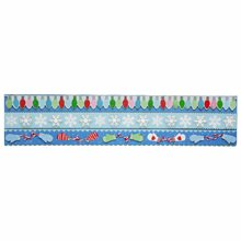 Martha Stewart Crafts - Christmas - 3 Dimensional Border Stickers with Glitter Accents - Winter Wonderland
