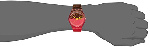Swatch Women's SUOP703 Pink/Brown Silicone Watch 3