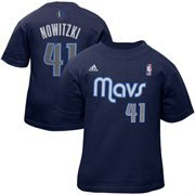 Nba Adidas Dirk Nowitzki Dallas Mavericks Toddler Name And Number T-Shirt - Navy Blue (4T)