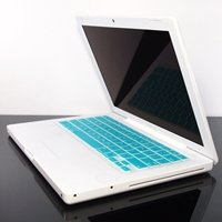 "TopCase AQUA BLUE Keyboard Silicone Skin Cover for Macbook 13"" 13.3"" (1st Generation/A1181) with TopCase Mouse Pad"