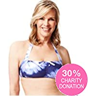 Fashion Targets Post Surgery Tie Dye Bikini Top