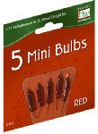 Noma/Inliten-Import 1115-3-88 2.5V Replacement Bulb, Red